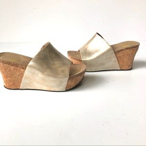 Volatile Madge Gold Wedge Sandal